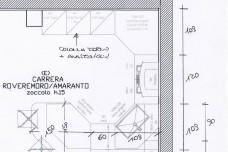 CARRERA -PVC ROVERE SCURO-PIANTA